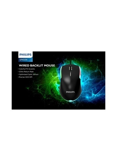Philips Philips G314 Işıklı Kablolu Oyuncu Mouse Renkli